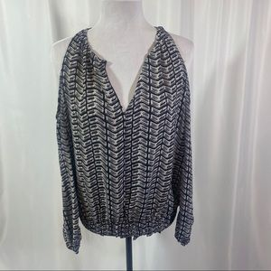 NWT Smocked Cold Shoulder Pullover Shirt by BarIII